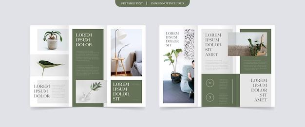 Diseño de folleto tríptico de estilo minimalista