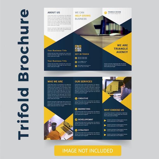 Diseño de folleto tríptico moderno