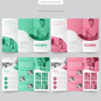 Diseño de folleto tríptico de negocios
