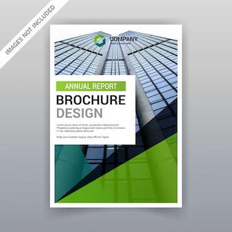 Diseño de folleto con vector de estilo elegent