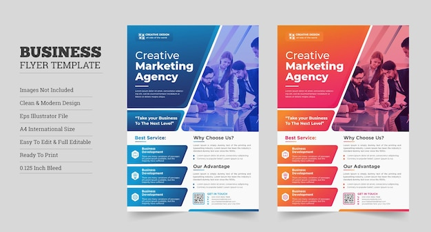 Diseño de folletos corporativos modernos creativos flyer corporativodiseño de folletos de negocios corporativos