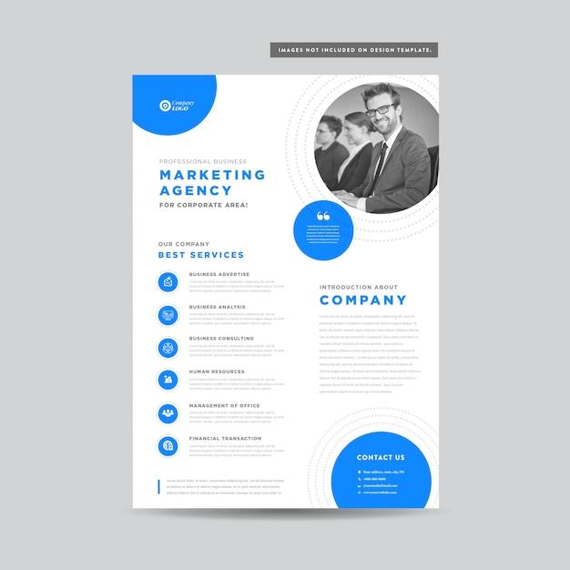 Diseño de folletos de negocios corporativos | folleto y diseño de folleto | diseño de hoja de marketing