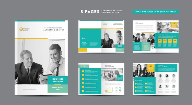 Diseño de folletos de negocios corporativos | informe anual y perfil de la empresa | diseño de folletos y catálogos