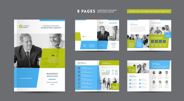 Diseño de folletos de negocios corporativos | informe anual y perfil de la empresa | folleto y plantilla de diseño de catálogo