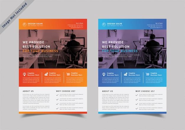 Diseño de folletos de negocios corporativos