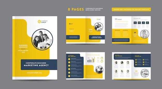 Diseño de folletos de negocios de páginas | informe anual y perfil de la empresa | folleto y plantilla de diseño de catálogo