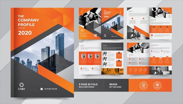 Diseño de folletos de negocios de páginas