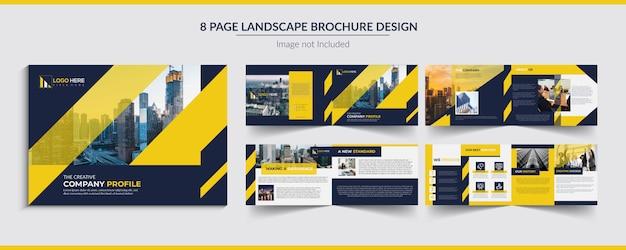 Diseño de folletos de paisajes