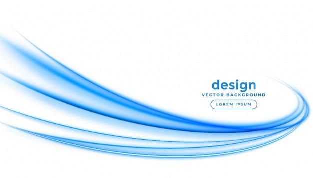 Diseño de fondo abstracto azul línea raya ola