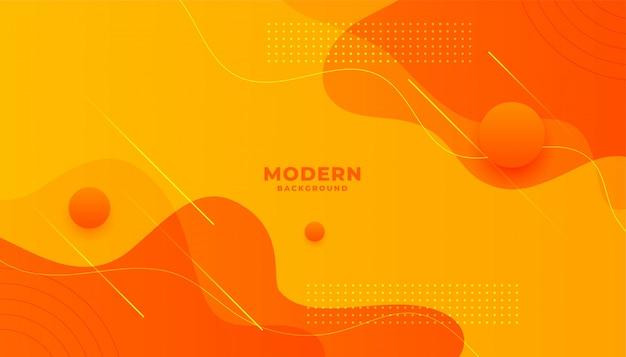 Diseño de fondo abstracto estilo minimalista amarillo y naranja
