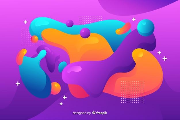 Diseño de fondo abstracto con formas fluidas y mucho color
