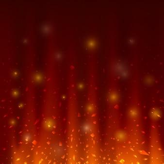 Diseño de fondo abstracto de fuego