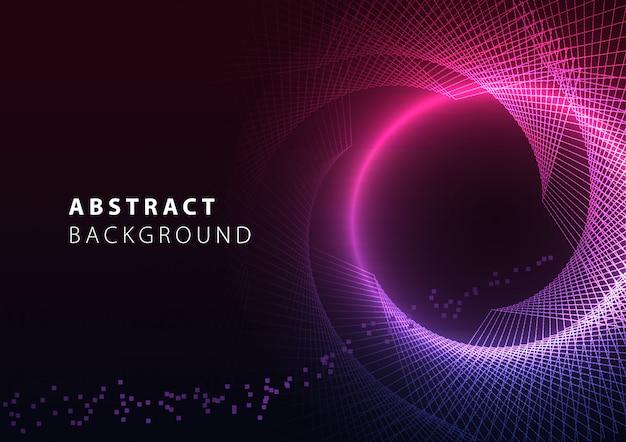 Diseño de fondo abstracto gradiente con líneas geométricas y efectos de luz.