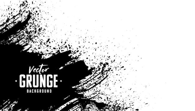 Diseño de fondo abstracto grunge negro