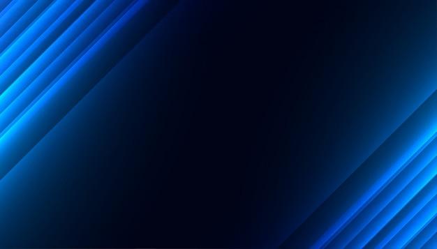 Diseño de fondo abstracto de líneas diagonales brillantes azules