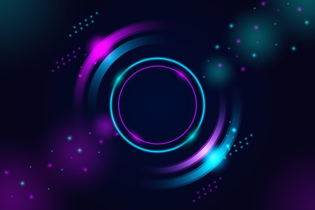 Diseño de fondo abstracto luces de neón