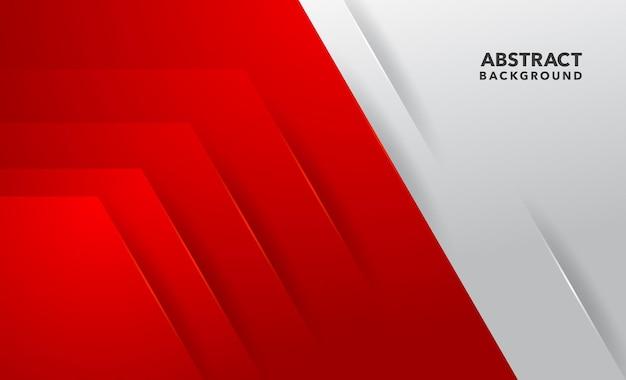 Diseño de fondo abstracto moderno blanco rojo