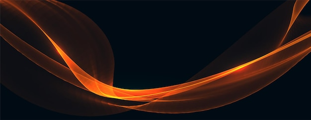 Diseño de fondo abstracto onda naranja