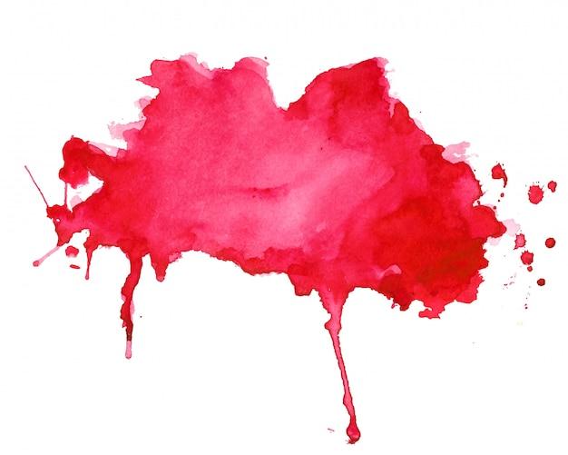 Diseño de fondo abstracto rojo acuarela splash textura