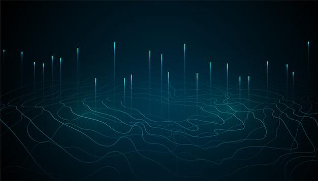 Diseño de fondo abstracto de tecnología digital de big data