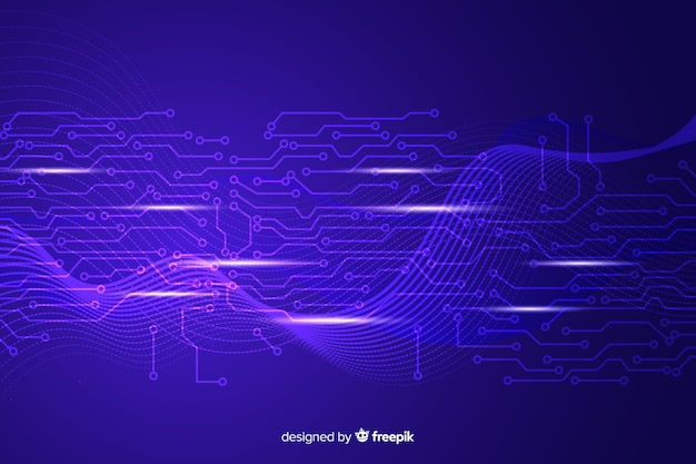 Diseño de fondo abstracto tecnológico