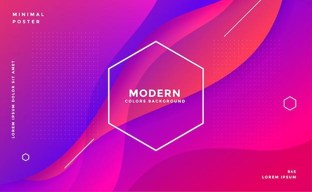 Diseño de fondo abstracto vibrante moderno de estilo fluido