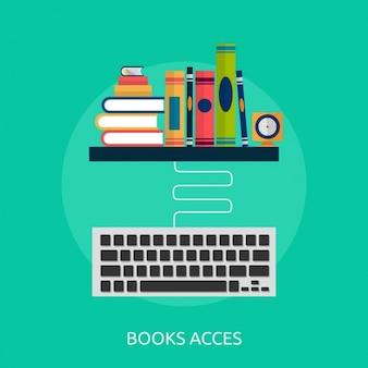 Diseño de fondo de acceso a libros
