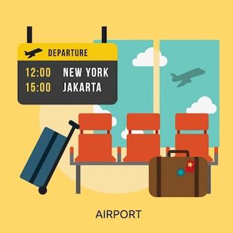 Diseño de fondo de aeropuerto