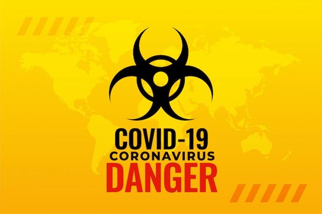 Diseño de fondo de alerta de brote pandémico de coronavirus covid-19
