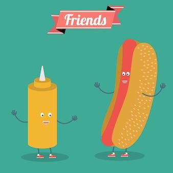 Diseño de fondo de amistad