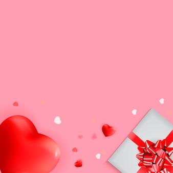 Diseño de fondo de amor y sentimientos de san valentín.
