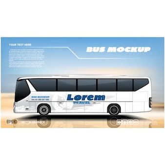 Diseño de fondo de autobús