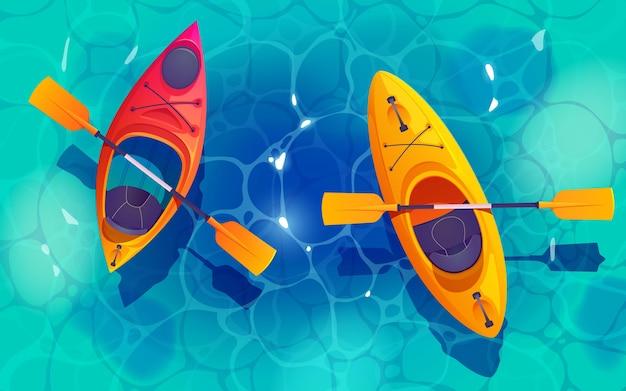 Diseño de fondo de aventura en kayak
