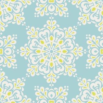 Diseño de fondo de azulejos de patrones sin fisuras damasco de lujo real