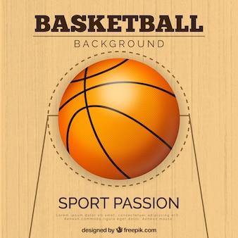 Diseño de fondo de baloncesto