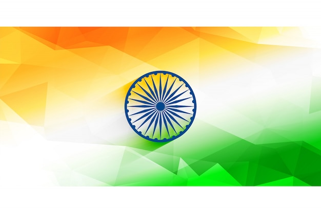 Diseño de fondo de bandera india abstracta