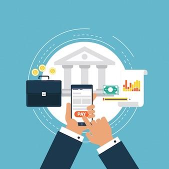 Diseño de fondo de banking