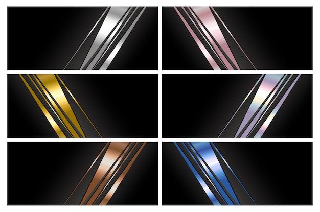 Diseño de fondo de banner de lujo abstracto con espacio de copia
