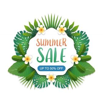 Diseño de fondo de banner de venta de verano