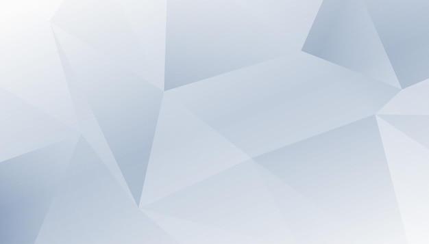 Diseño de fondo blanco de baja poli