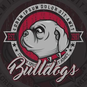 Diseño de fondo de bulldog