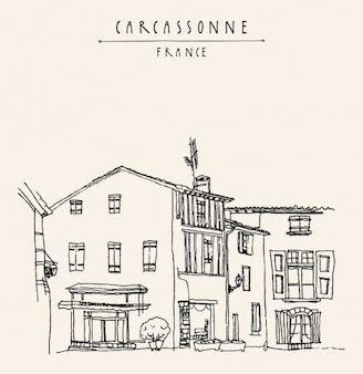 Diseño de fondo de carcassonne
