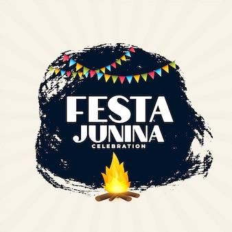 Diseño del fondo del cartel del festival brasileño festa junina