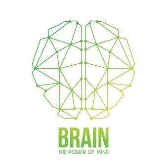 Diseño de fondo de cerebro abstracto