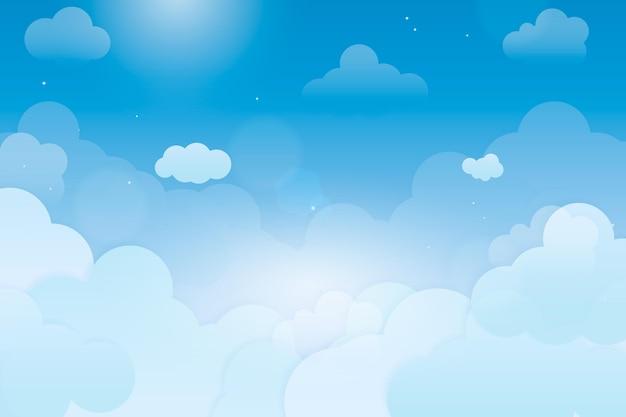 Diseño de fondo de cielo