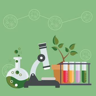 Diseño de fondo de ciencias