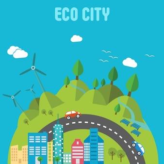 Diseño de fondo de ciudad ecológica