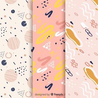 Diseño de fondo con colección de patrones