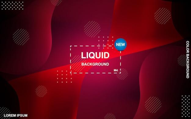 Diseño de fondo de color líquido. gradiente de fluidos conforma la composición.