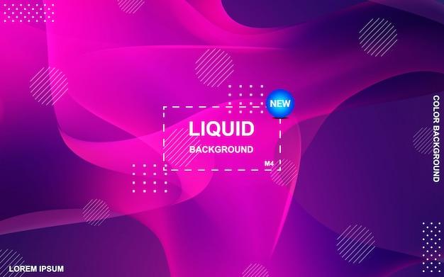 Diseño de fondo de color líquido. gradiente de fluidos formas de composición